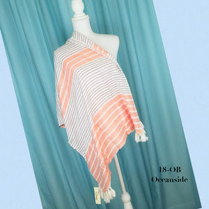 Collection 18 Crush Pink Oceanside Striped Wrap